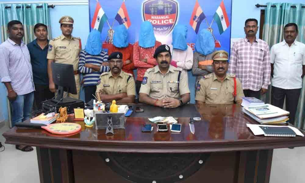 Six thieves, including a minor, held in Warangal