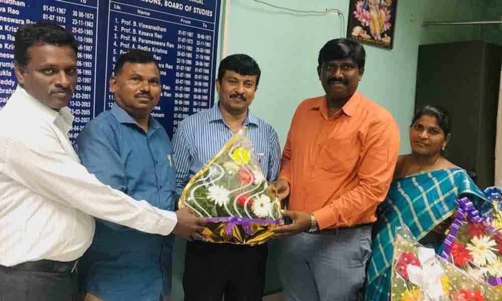 Hanamkonda: Raj Kumar is new Head of Maths department,Kakatiya University