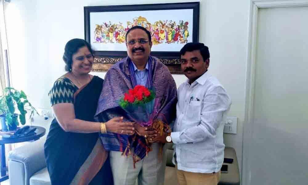 NITW Director felicitated in Warangal