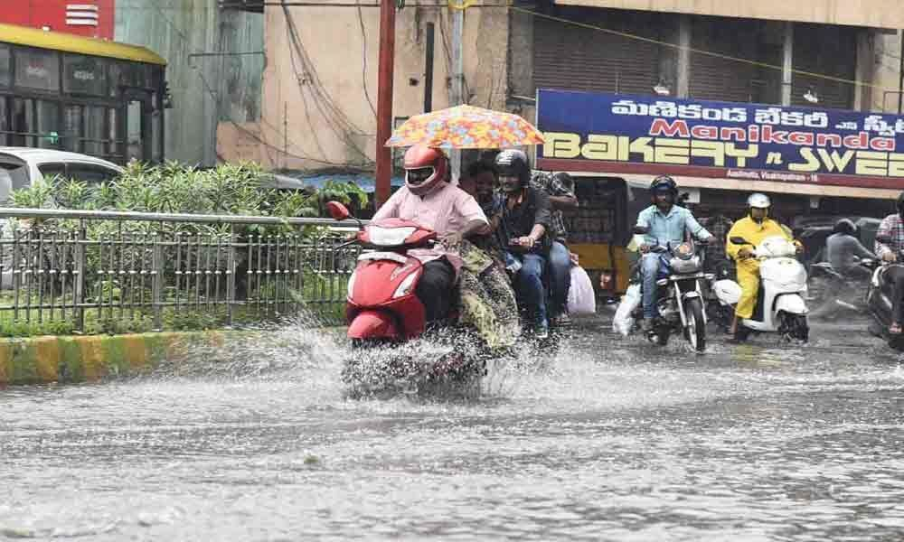 Incessant rains throw normal life out of gear in Visakhapatnam