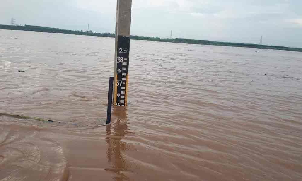 Officials lift five gates of Taliperu project,release over 16,000 cusecs water
