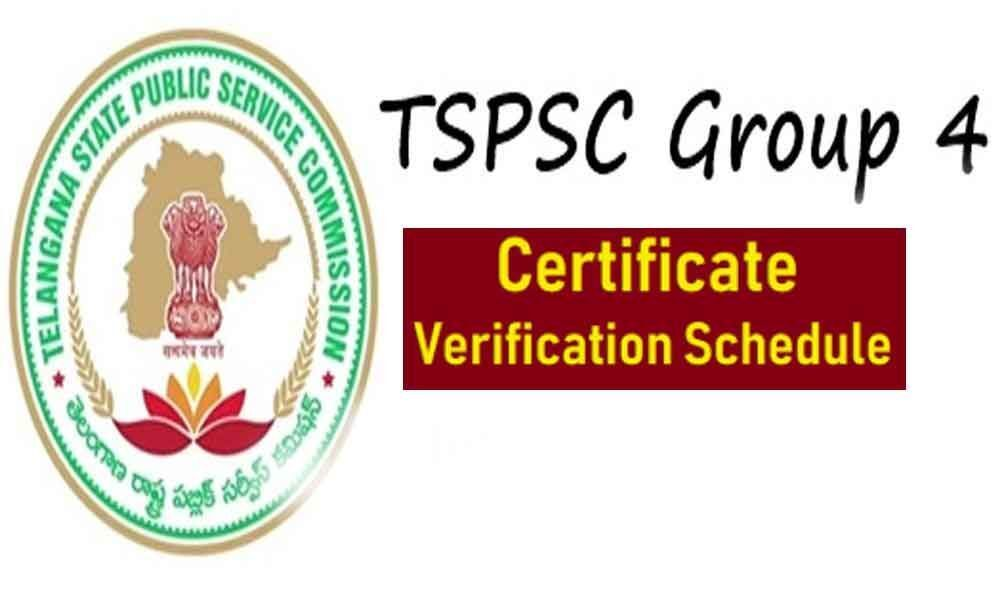TSPSC Group IV certification verification from Sep 9