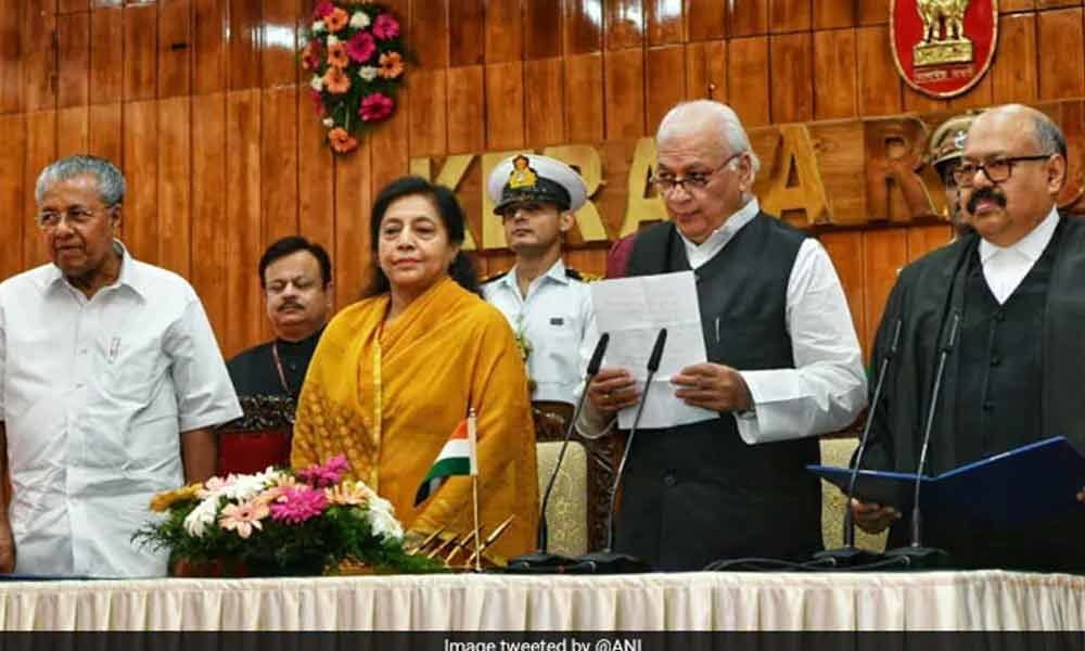 Arif Mohammed Khan takes oath as Kerala Governor