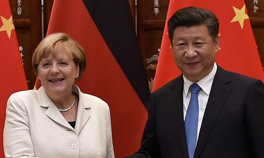 German Chancellor Angela Merkel in China