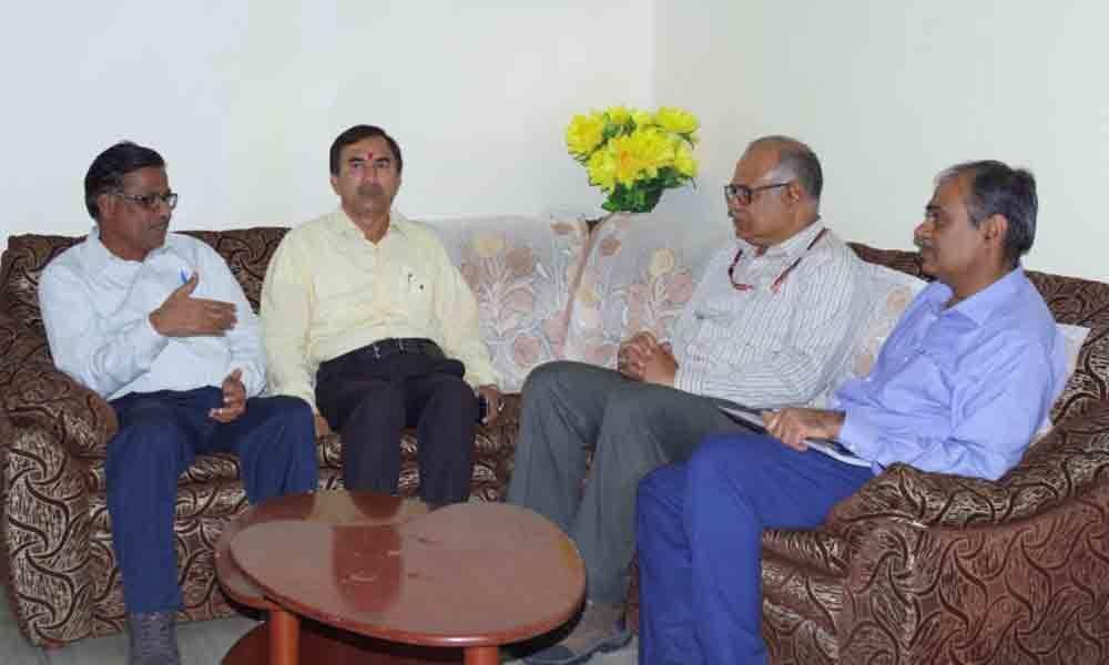SCCL Director, SCR Chief discuss Sathupalli-Kothagudem railway line works