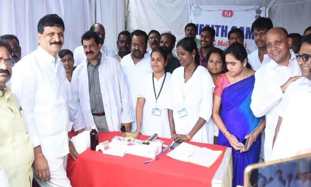 MLA Mynampally Hanumantha Rao inspects Ganesh immersion arrangements