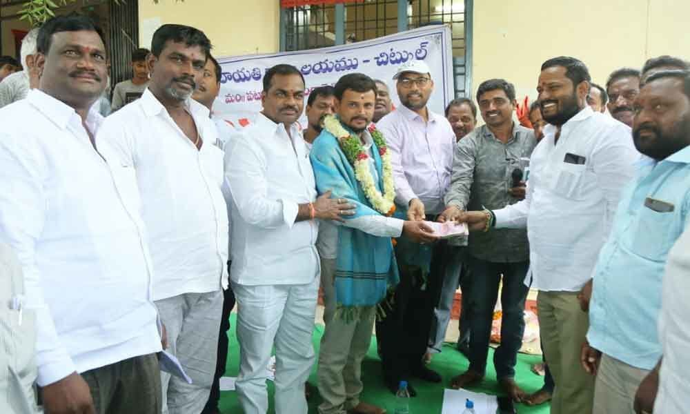 Youth donates 2 lakh for rural development