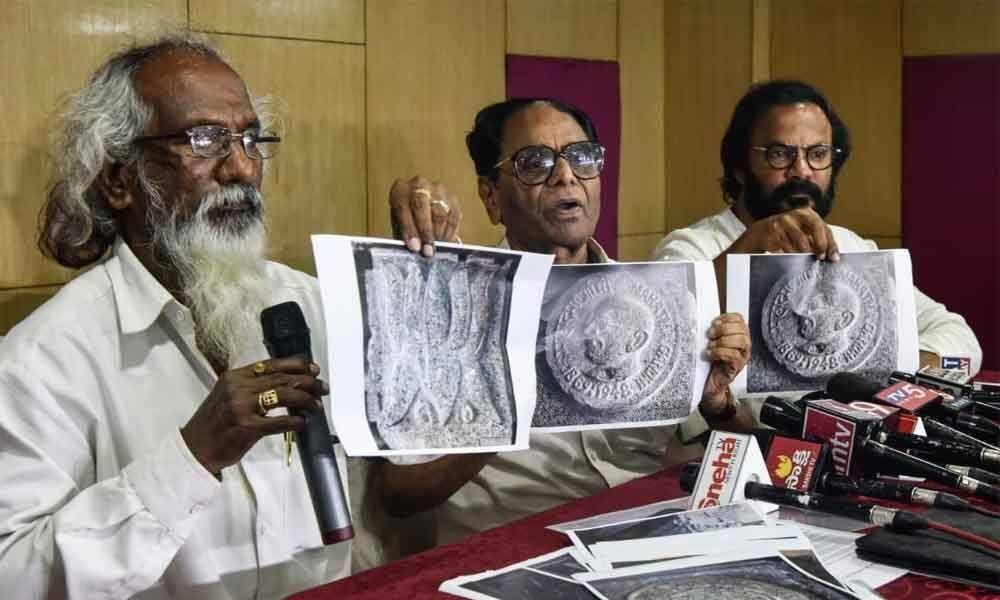 Engravings of leaders on Yadadri pillars defended