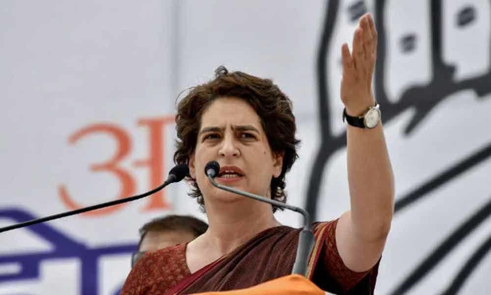 Priyanka Gandhi criticizes BJP for '100 days celebration' plans