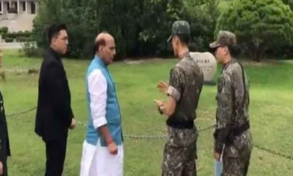 Rajnath Singh visits site where North and South Korean chiefs planted tree