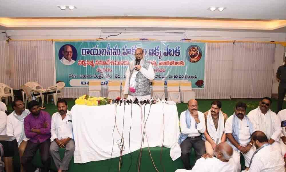 Focus on Rayalaseema development: MP TG Venkatesh