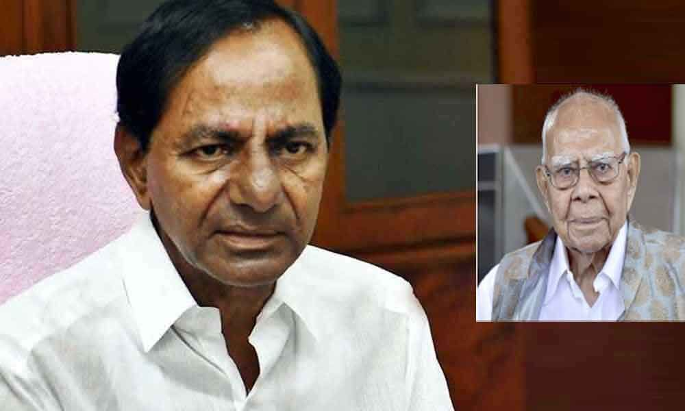 CM KCR expresses condolences to Jethmalani