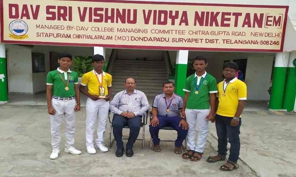 DAV Sri Vishnu Niketan students excel in kabaddi