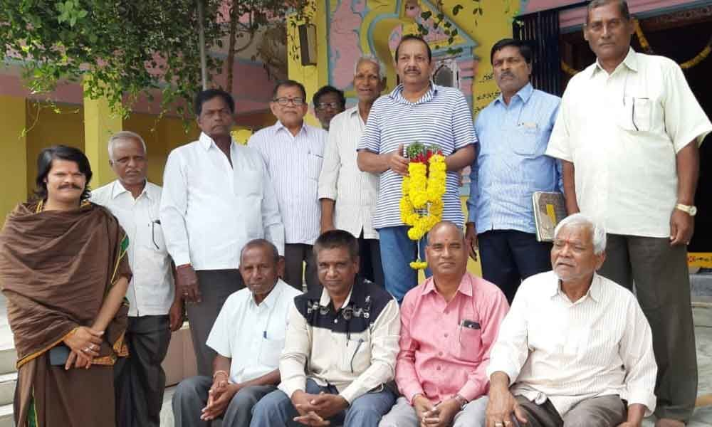 Temple body elects new committee at Housing Board Colony
