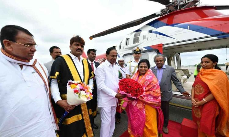 Tamilisai Soundarajan arrives in Hyderabad, to take oath as TS Governor at 11 AM