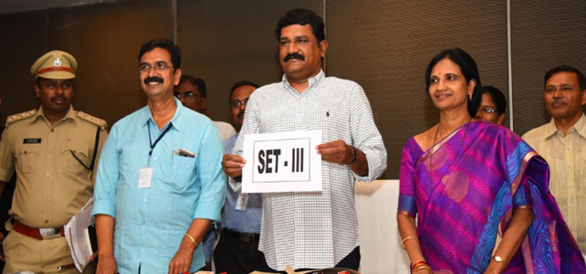 Ganta releases Set III for Inter exams