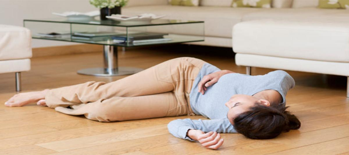 Sniffing and gasping can prevent fainting