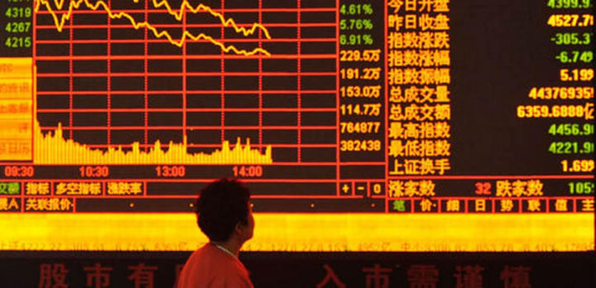 Chinese shares plummet
