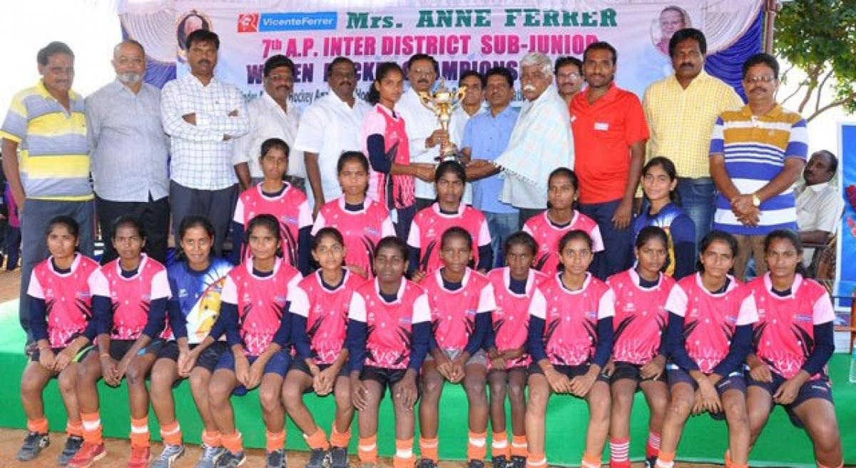Anantapur eves clinch hockey title