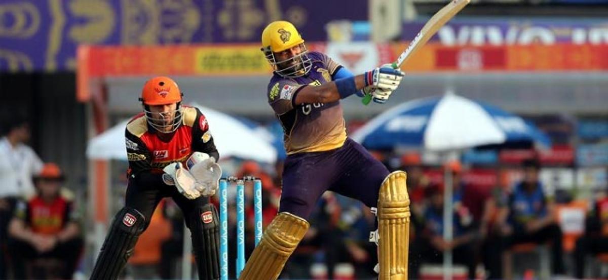 Uthappas 68 takes Kolkata to 172/6 vs Hyderabad