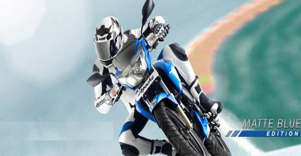 TVS Apache matte blue edition launched
