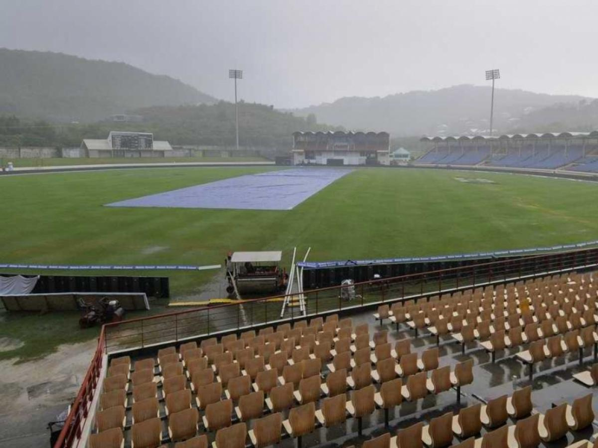 India Vs West Indies: Downpour rains off play on third day too