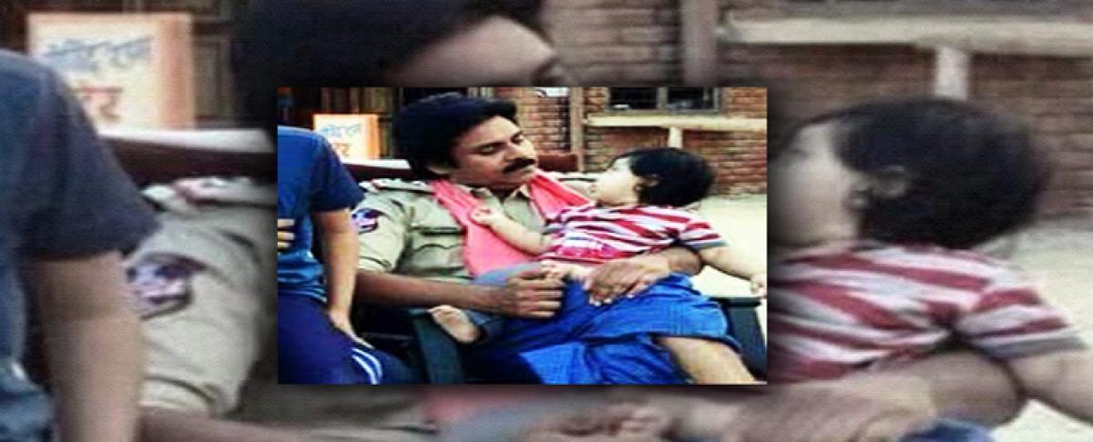Allu Arjuns son Ayaan in Pawans Sardaar Gabbar Singh