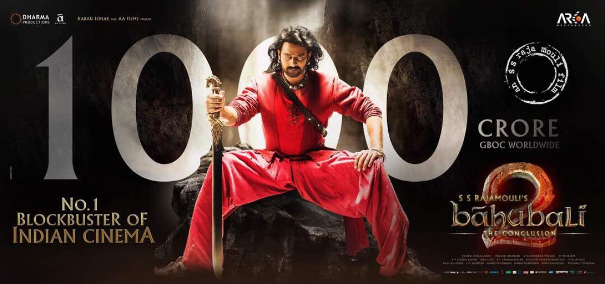 Celebrities congratulatory messages to Baahubali 2 for the achievement of 1000 Cr
