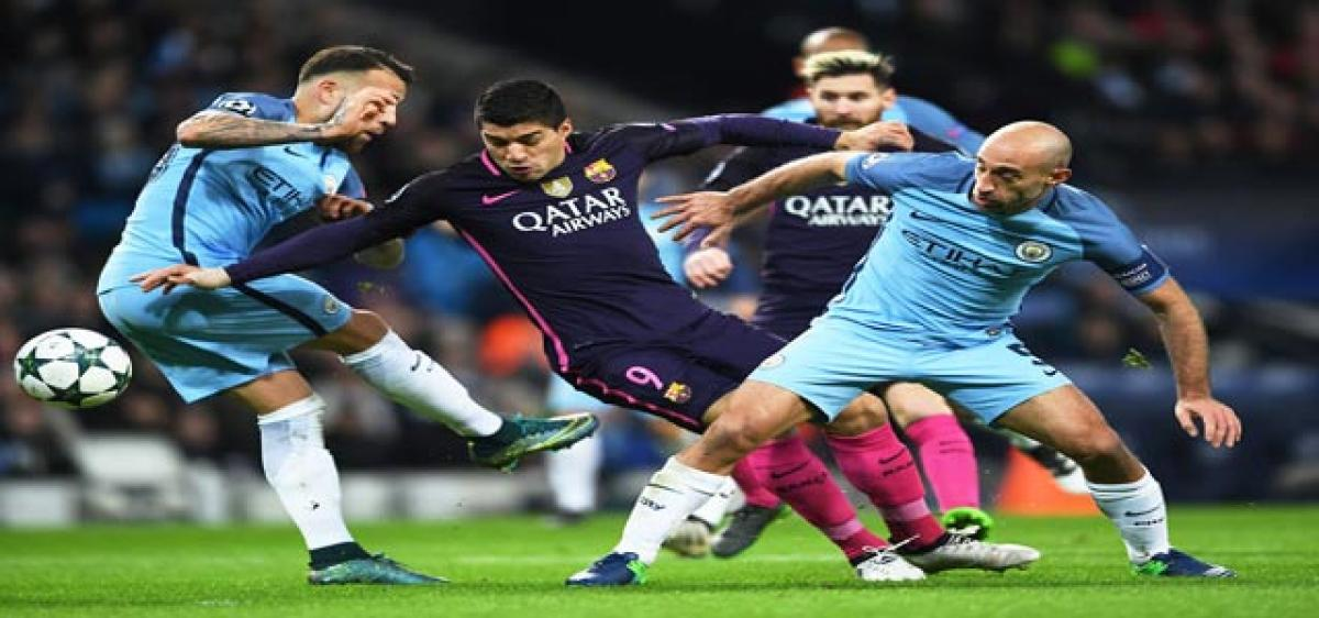 City stun Barca Atletico, Bayern through