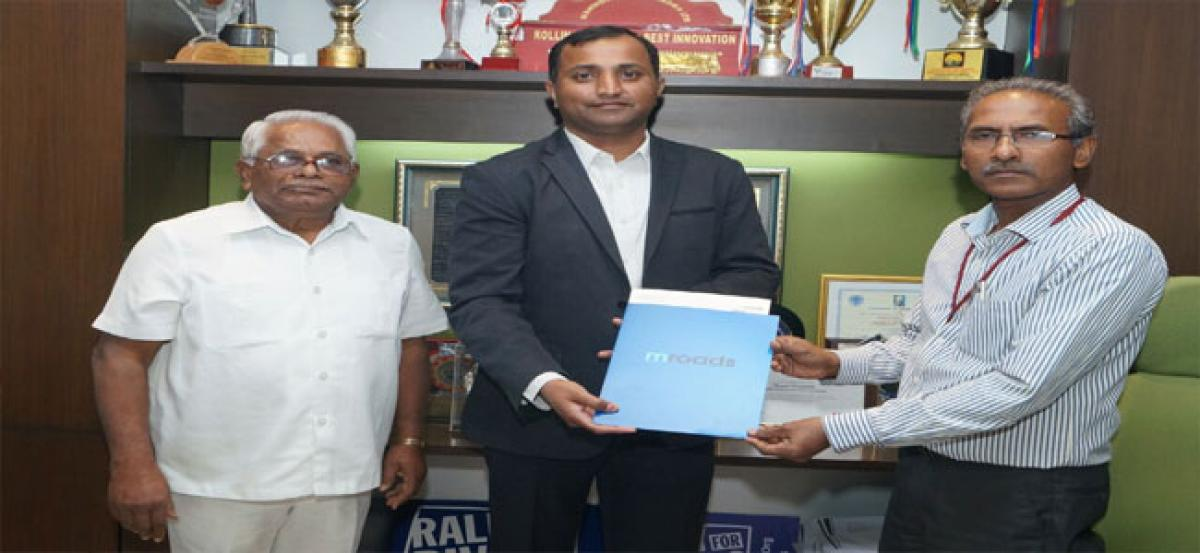 Sreenidhi Engg college inks MoU with mroads