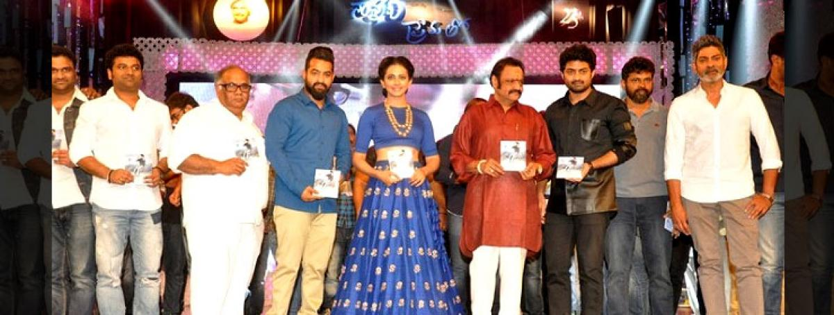 Nandamuri family split wide open at NTRs Nannaku Prematho audio launch