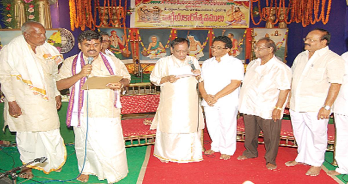Bhadradri temple mourns its Asthana Vidwan's demise