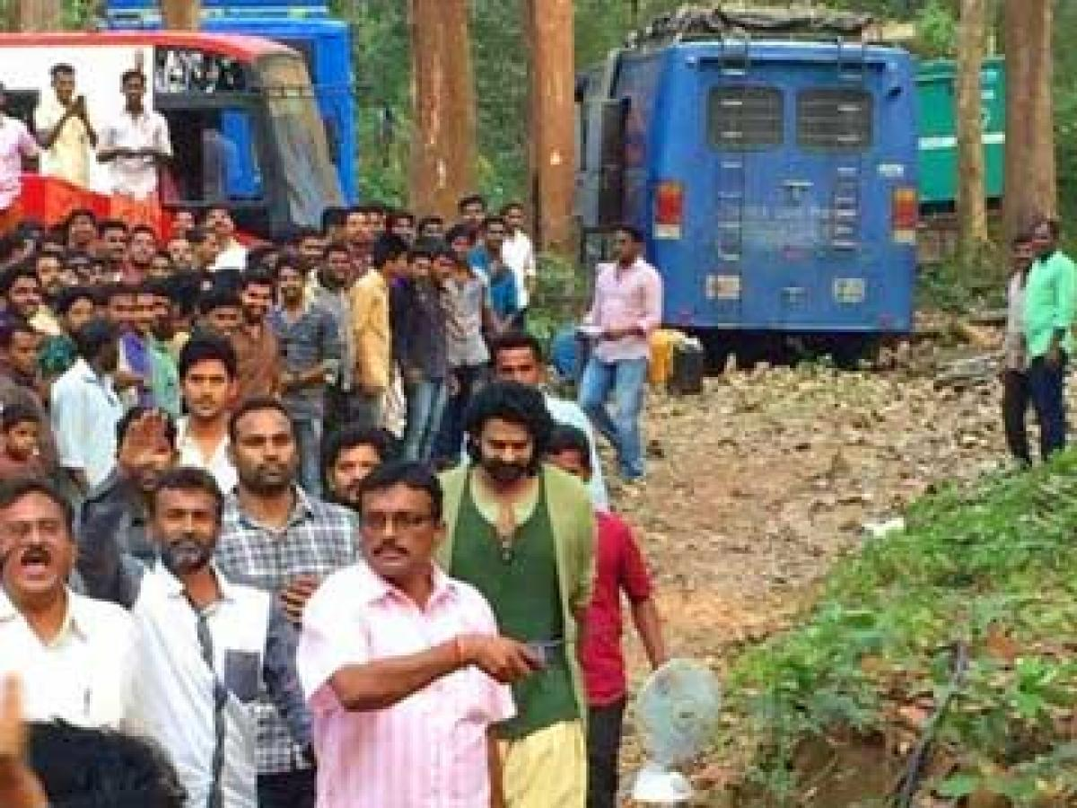 SS Rajamoulis Baahubali in forest