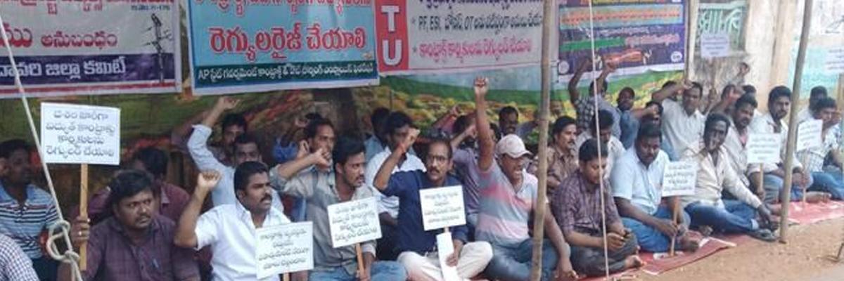 Power contract employees demand regularisation
