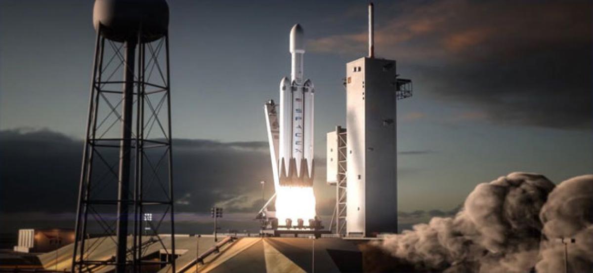 Falcon Heavy test flight today
