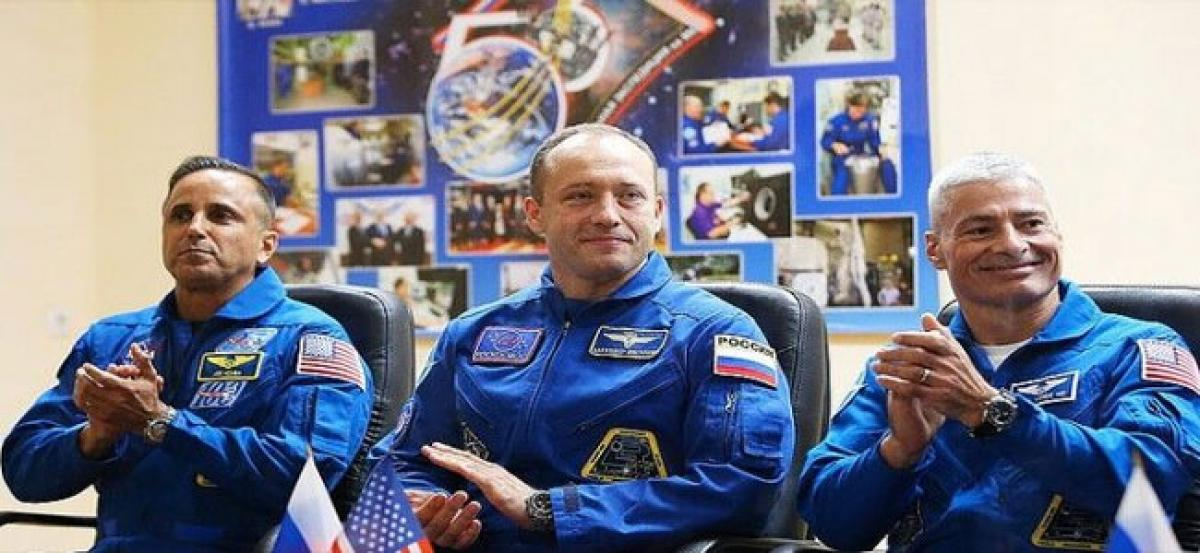3 astronauts back on Earth after months in space