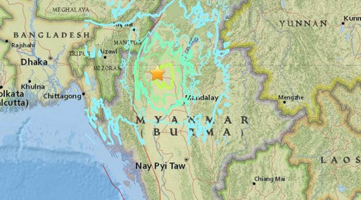 Earthquake rattles Myanmar, no damage