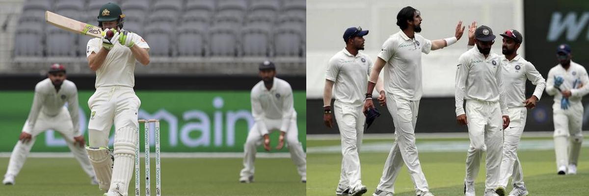 Cricket: Australia dismissed for 326 in second test against India