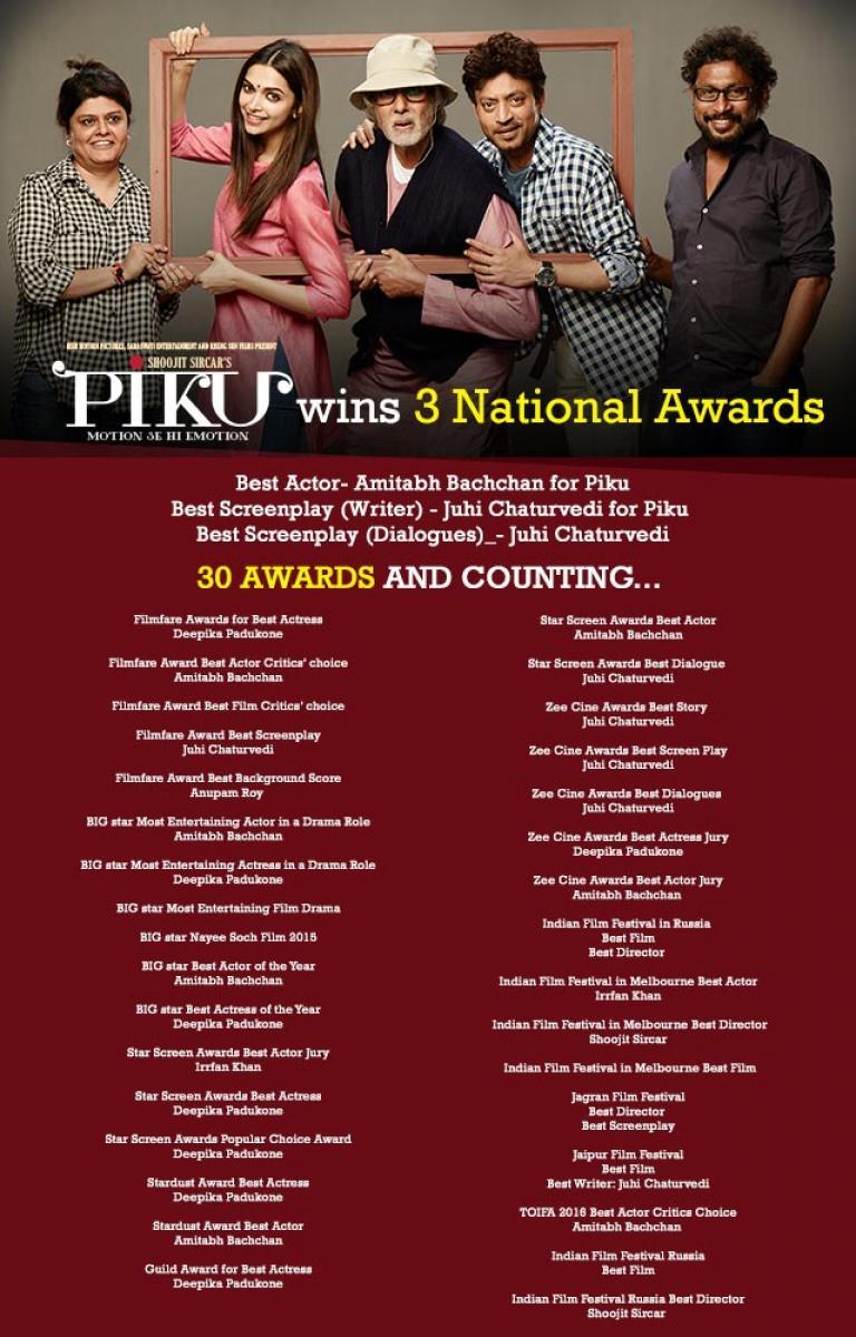 Check out: Piku wins three National Awards poster