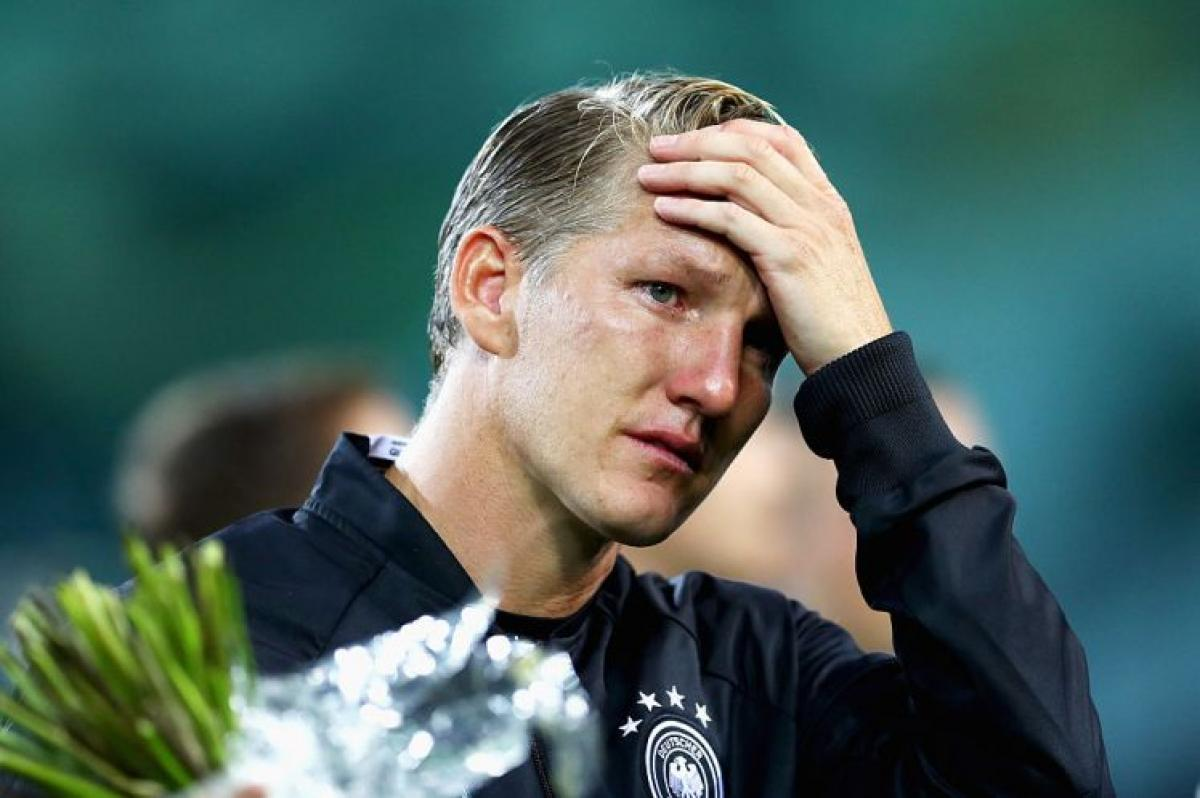 Bastian Schweinsteiger turns emotional during final Germany appearance