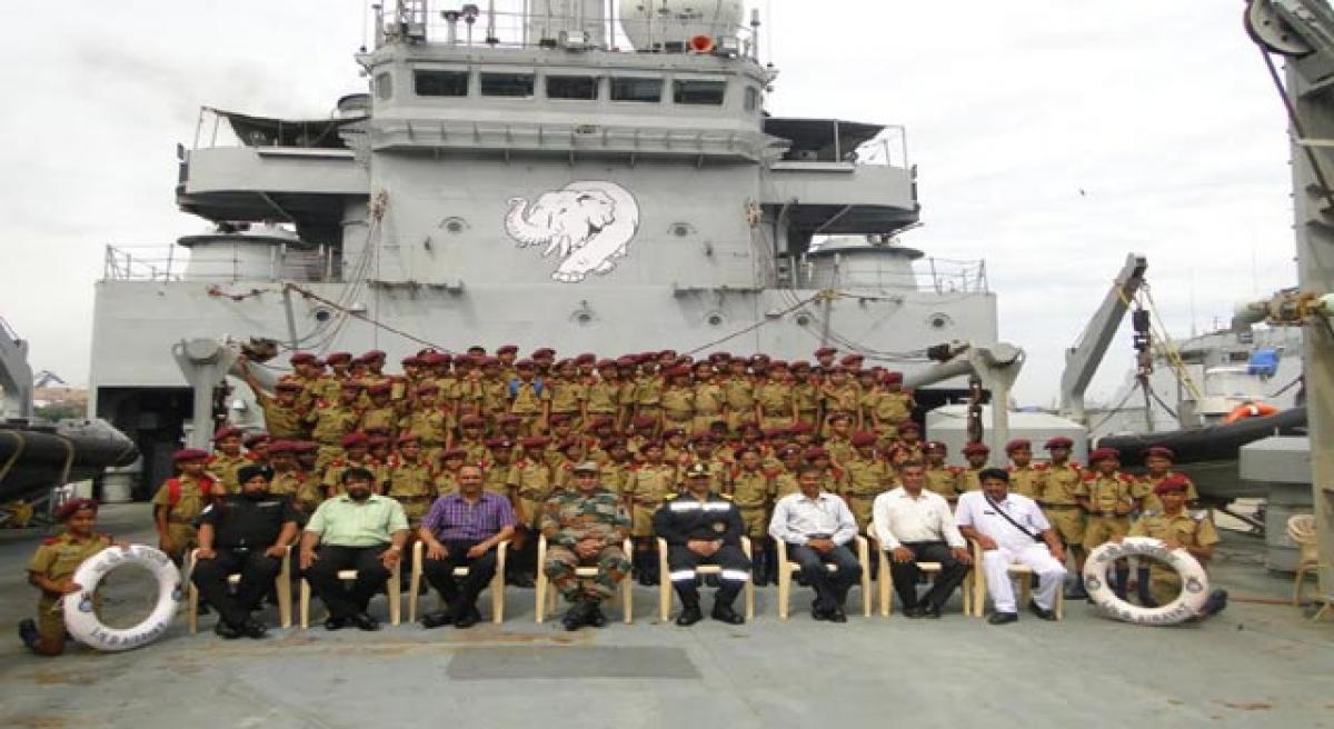 Saikorians undertake a sea sortie organised by ENC