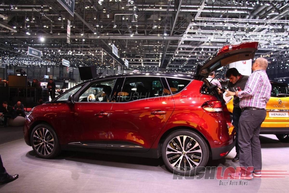 Geneva Motor show 2016 Renault scenic features