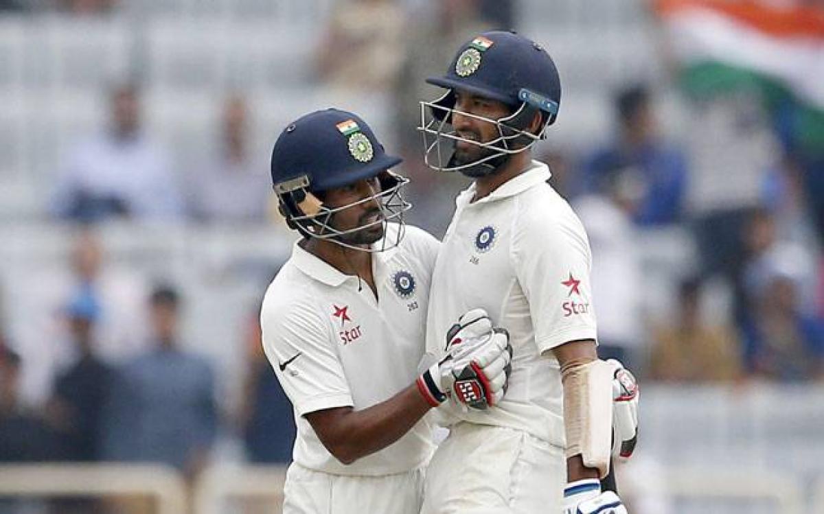 Pujara, Saha continue to frustrate Aussies as India reach 503/6 at tea
