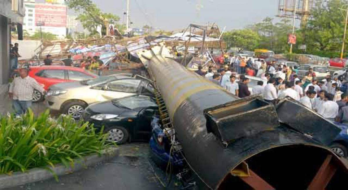 Ad agency booked for unipole collapse