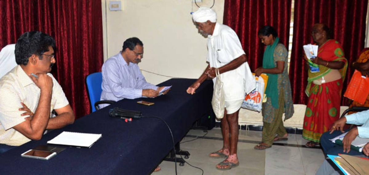 Clear pending applications of Prajavani