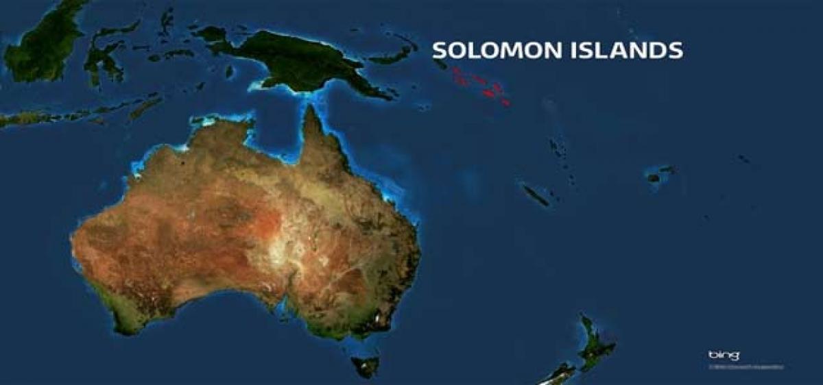 Magnitude of 7.7 quake hits off Solomon Islands