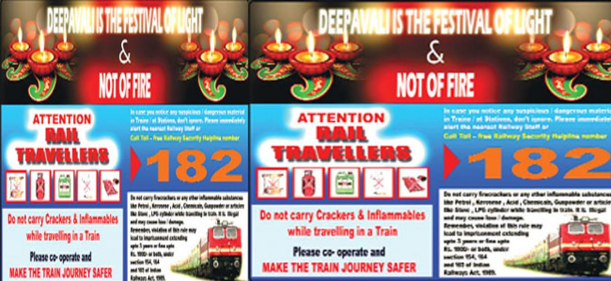 Carrying of inflammable objects in trains banned