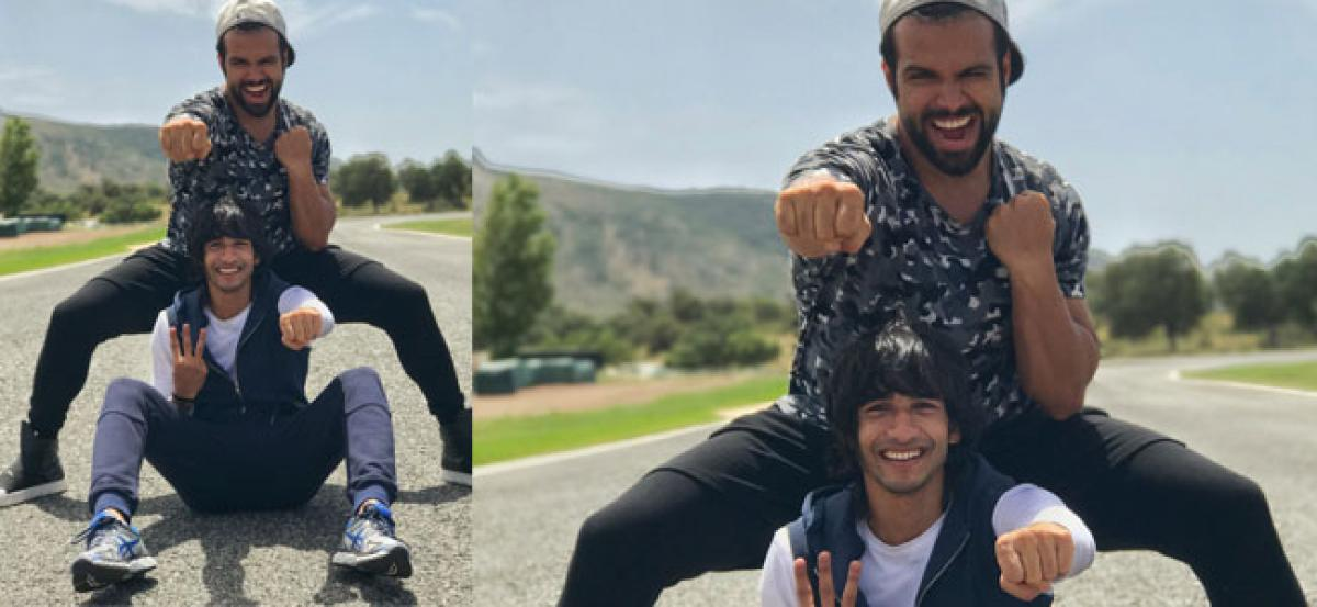 Rithvik and Shantanu break into a Bollywood dance on the streets of Spain!