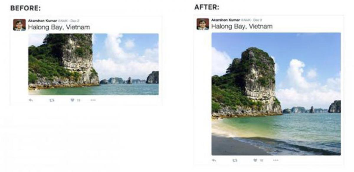 Photo-sharing on Twitter better with bigger images