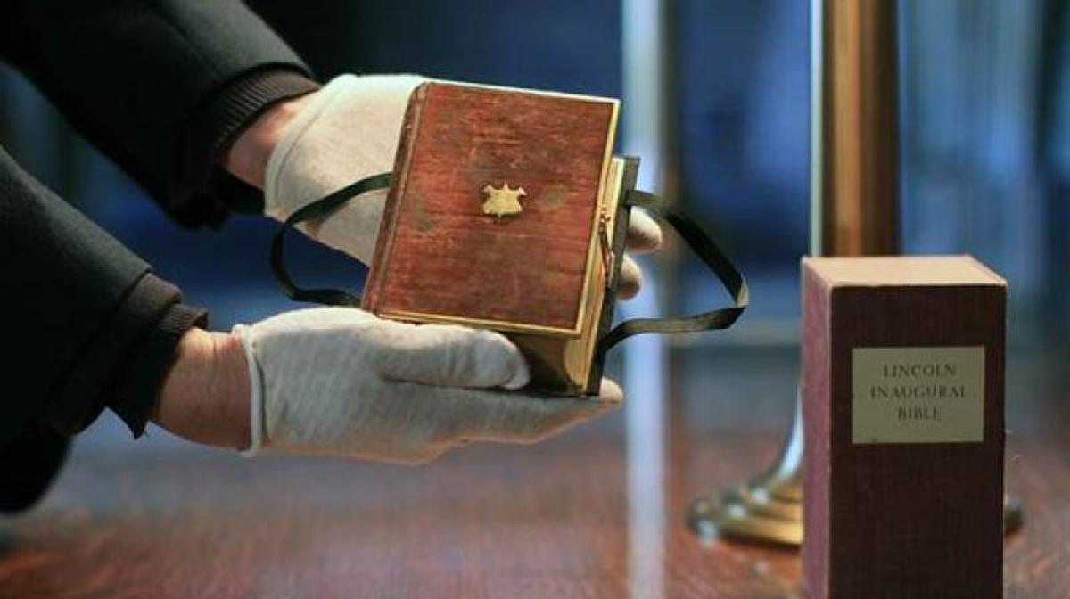 Donald Trump to place hands on Lincoln Bible in oath-taking ceremony
